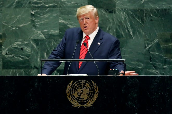 "At the United nations General Assembly in September, President Donald Trump said, ""The world does not belong to globalists; it belongs to patriots."""