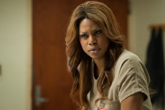 "Laverne Cox as inmate Sophia in Netflix's female-centric prison series ""Orange is the New Black."""