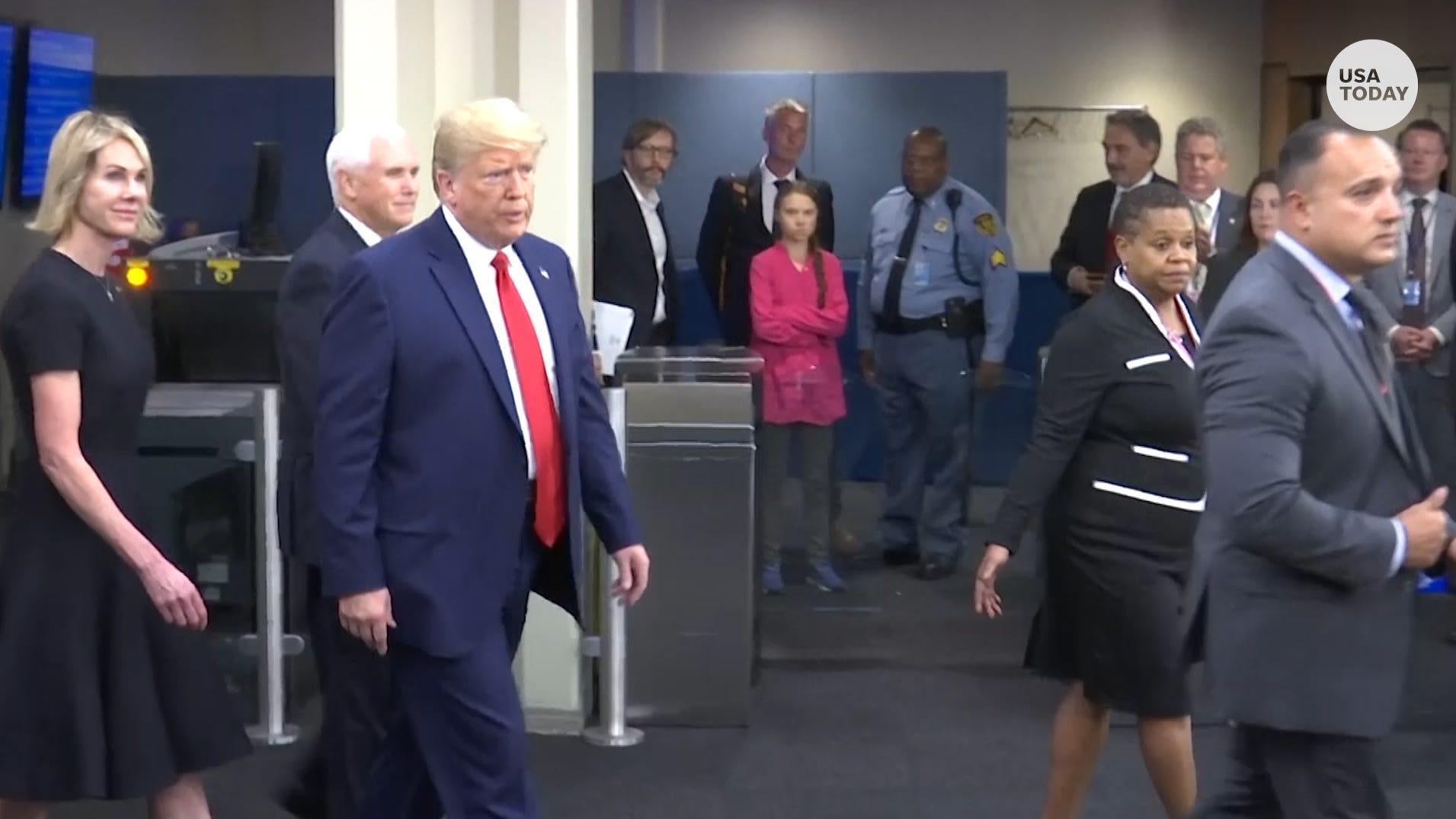 Davos chief welcomes Donald Trump, Greta Thunberg as climate change alarm tops agenda - USA TODAY