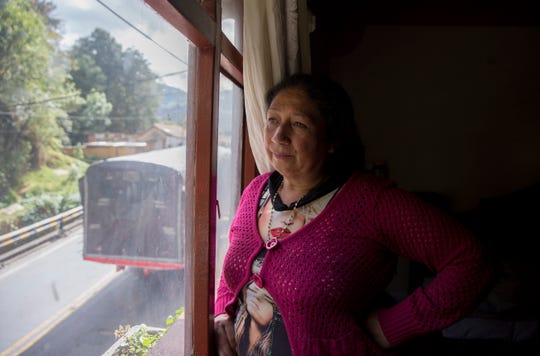 Martha Duque, the head of an informal shelter caring for walking Venezuelan migrants, poses for a portrait in her home in Pamplona, Colombia on September 12, 2019.
