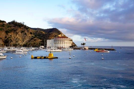 The historic Avalon Casino in Catalina Island