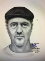 The sketch police released of the man suspected of robbing and assaulting an 87-year-old Berkeley woman.