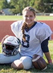 Mater Dei Prep student Claire Gaston is a kicker for the varsity football team.    