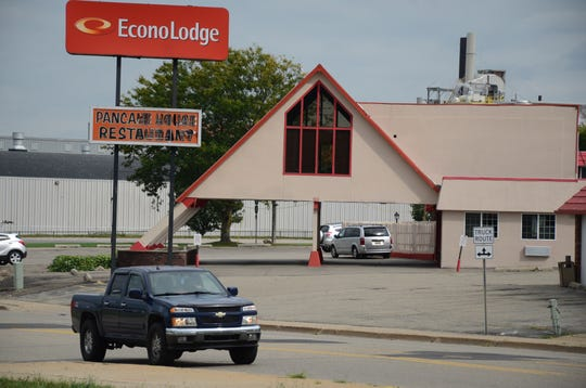 The Econo Lodge at 165 Capital Ave. S.W. at Dickman Road.