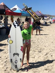 Daya McCart was among just a few Central Florida surfers who took home prizes at the ESA Easterns surf contest in ags Head, N.C.