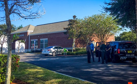 Multiple police and BCSO units were seen at Regions Bank on West New Haven Avenue on Wednesday, Sept. 25, 2019.