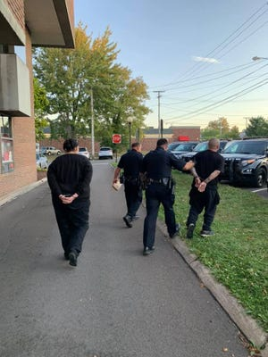 An attempt to use a stolen credit card at a local convenience store led to a foot chase and three arrests early Wednesday, according to the Bucyrus Police Department.