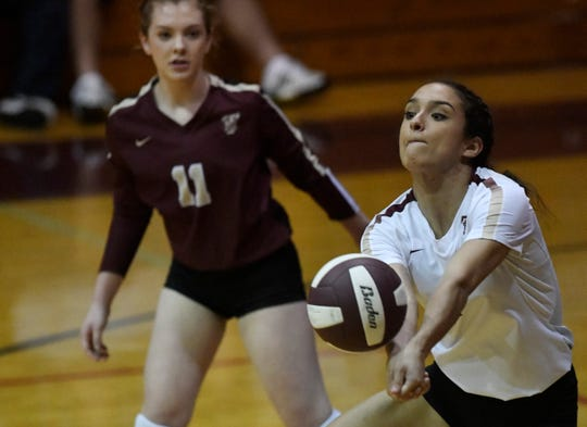 Tuloso-Midway faces Flour Bluff in a volleyball game, Tuesday, Sept. 24, 2019, at Flour Bluff High School.
