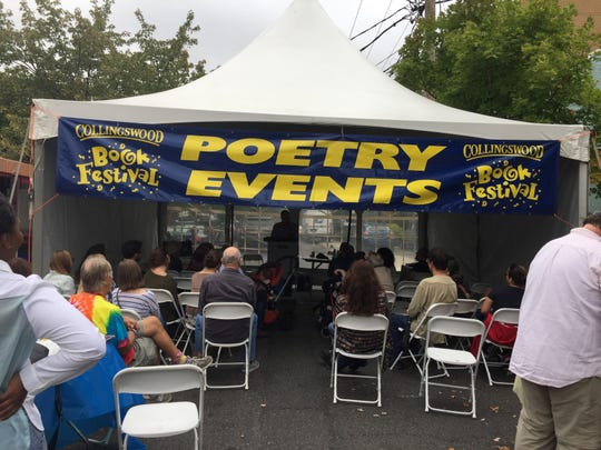 The Poetry Tent of the Collingswood Book Festival offers poetry events and interactive fun from 10 a.m. to 4 p.m. Saturday, Oct. 5, on Haddon Avenue.