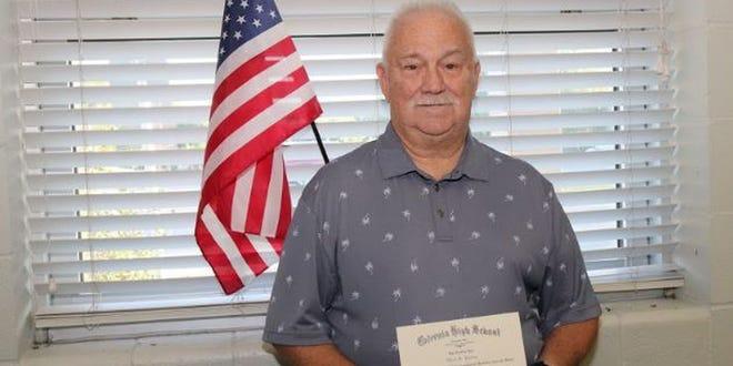 Albert Buxton, a Vietnam and Cold War veteran received his high school diploma.