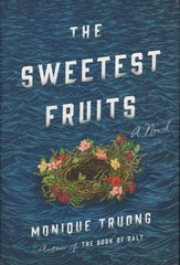 "Book cover, ""The Sweetest Fruits,"" a novel of Lafcadio Hearn by Monique Truong"