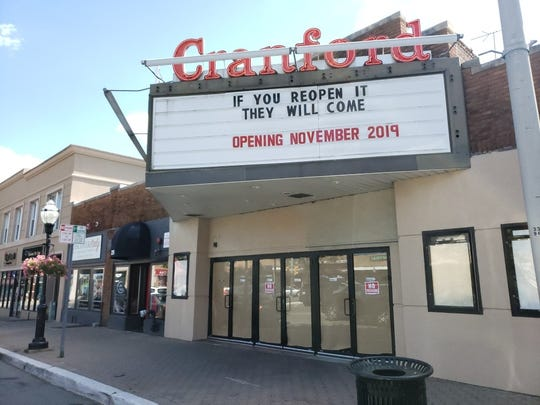The Cranford Theater, which was closed in early September is now slated to reopen in November.