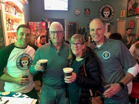 Joe Cascio, CEO of Brainy Borough Brewing, pictured right.