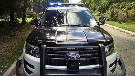 Cop car and lights
