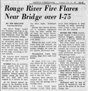 A news story published in the Detroit Free Press October 10, 1969, a day after the fire.