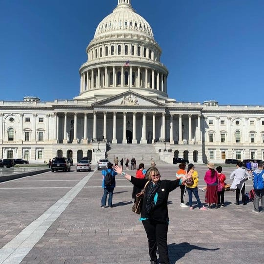 Debbie Pickworth traveled to Washington, D.C., earlier this year to advocate for federal funding for lung cancer research as Michigan'sLung Force hero.