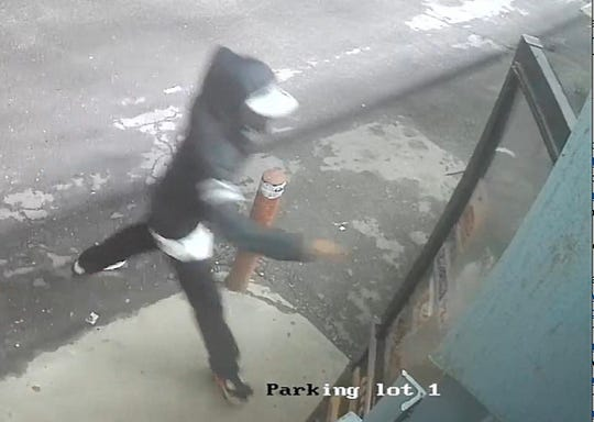 From Detroit Police Department. Surveillance footage of the two suspects wanted in connection with a fatal shooting reported about 11 p.m. Saturday in the 16200 block of Schoolcraft.