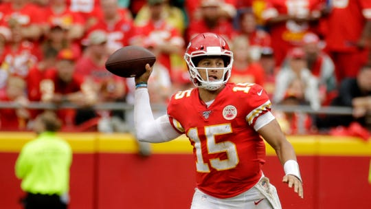 Chiefs quarterback Patrick Mahomes will play in his first indoor NFL game Sunday when Kansas City visits Detroit.