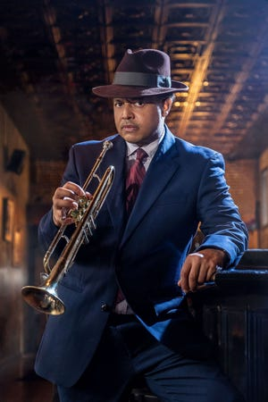 """Brian Marable plays Blue in Dominique Morisseau's """"Paradise Blue"""" at the Detroit Public Theatre, a jazz musician and club owner in 1949 Detroit."""