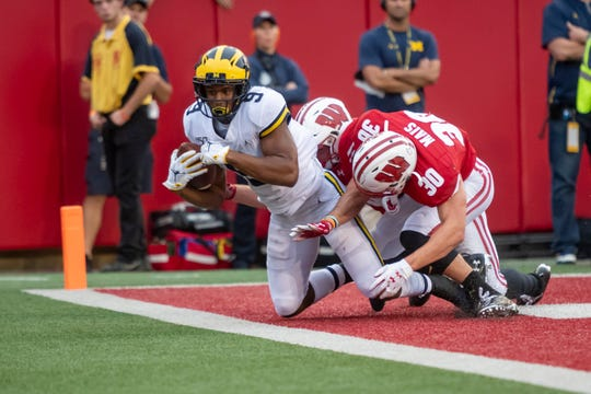 Michigan wide receiver Donovan Peoples-Jones was a game-time decision ahead of the Wisconsin game.