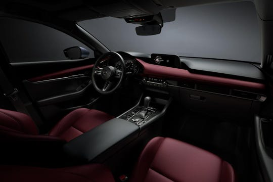 The 2019 Mazda3 interior.