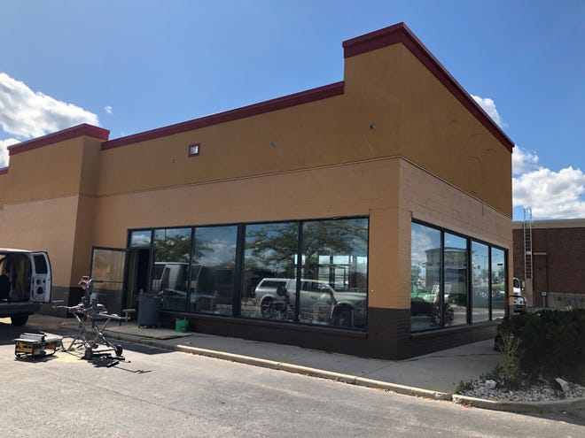 Construction on Popeyes Louisiana Kitchen at 832 W. Johnson St., Fond du Lac, continues Sept. 25, 2019.