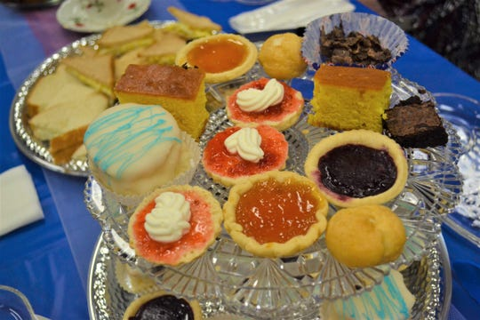 Homemade British goodies lie on a tray during an English Tea at Oak Harbor Public Library on Sept. 22.