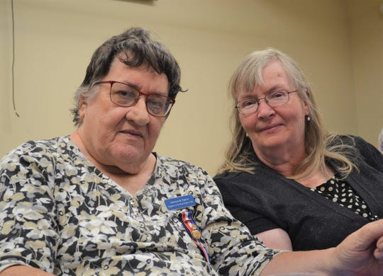 Veronica Pearce, left, moved to America with her husband and small children in 1968 and joined the Daughters of the British Empire in 1970. The group became a lifeblood of connection for her as she navigated through a difficult adjustment to American life. With Pearce is her guest, Susan Minier.