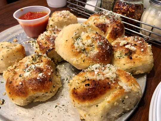 Tony's garlic knots come eight to an order for $4.95.