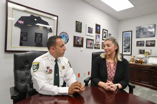 Detective Sarah Rodriguez was tanked for her hard work by Lee County Sheriff, Carmine Marcelo, for all of her hard work on  a double murder cold case that happened in Estero back in April 2018.