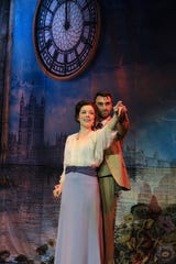"""Josephine Florence Cooper and Mark Bacon star as Sylvia and J.M. Barrie in the new national tour of """"Finding Neverland."""""""