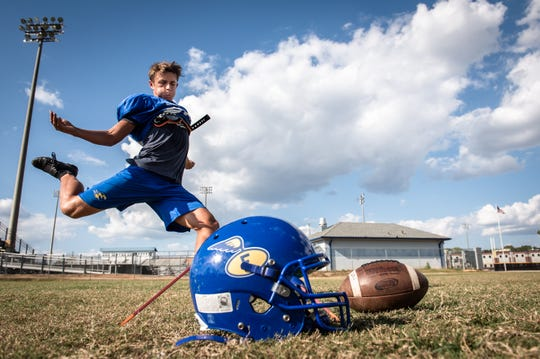 Max Tiberghien, a senior at Eastside High School and a kicker on the varsity football team, moved from Johannesburg, South Africa with his family before the 2012-13 school year.