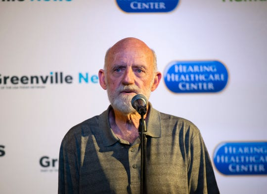 Vietnam veteran Roger Thompson shares a story during The Greenville News Storytellers event at the Comedy Zone Tuesday, Sept. 24, 2019.