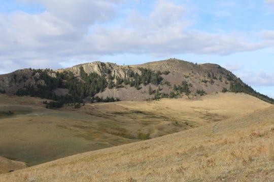 Lionhead Butte is a major feature on the landscape of the Birdtail Butte Conservation Easement