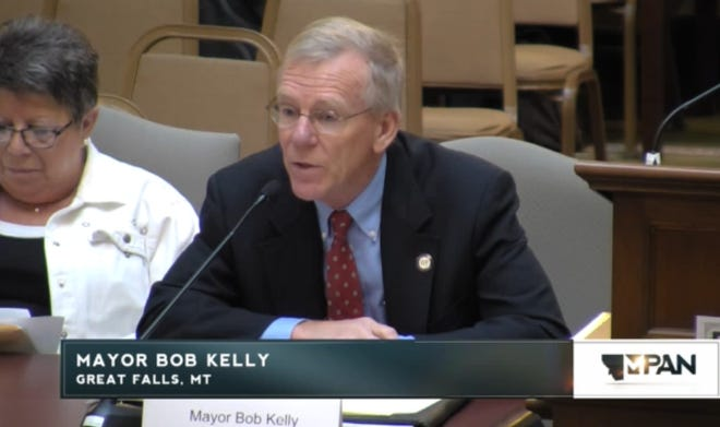 Great Falls Mayor Bob Kelly talks to a state panel about fiscal challenges facing the city.