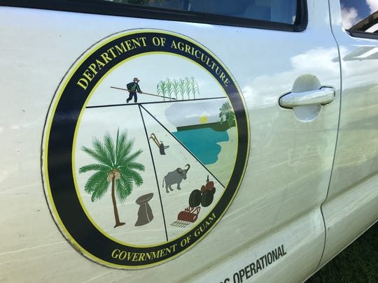 An official Guam Department of Agriculture vehicle