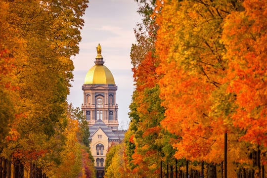 Fall colors are stunning at the University of Notre Dame.
