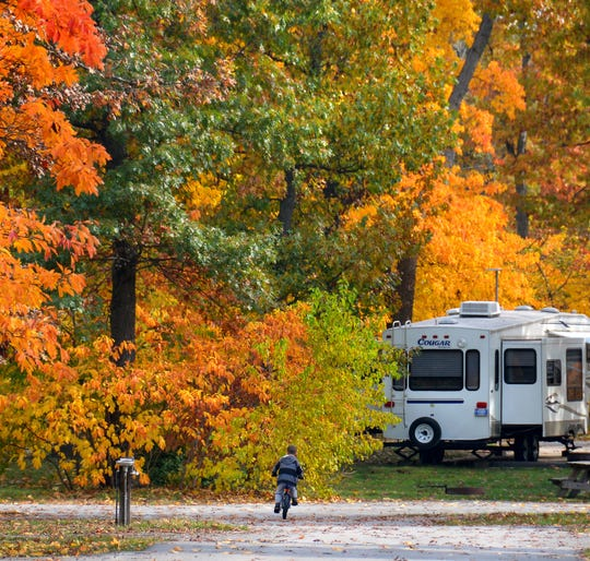 Indiana Dunes State Park is a great place to view fall foliage.