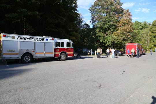 A person was taken to Cayuga Medical Center after he sustained non-life-threatening injuries after a fall at Taughannock Falls State Park on Wednesday, Sept. 25.