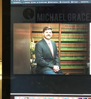 This photo of a computer screen shows Michael Grace in a Facebook post.