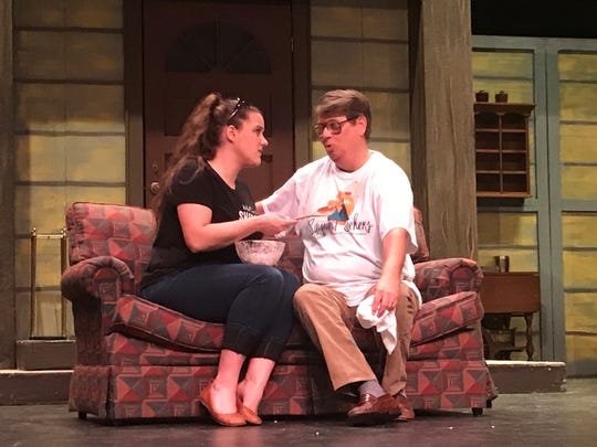 Leeanna Cargile (Suzanne) and David Lundgren (Bernard) are two of the actors in Don't Dress for Dinner.