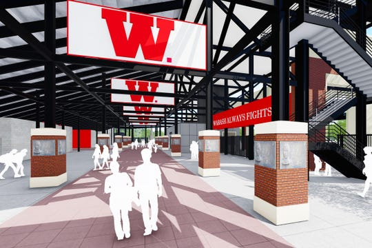 Wabash College announced Wednesday, Sept. 25, 2019, it would build a new, $13 million Little Giant Stadium on the site of its current stadium on the Crawforsdville campus in time for the 2020 football season.