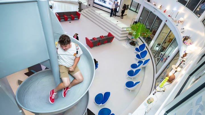 'The Disney World of education': How this Kentucky school uses a slide to promote learning