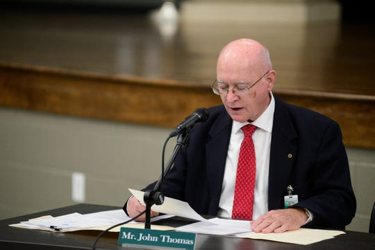 John Thomas, acting superintendent, was hired for one year in May