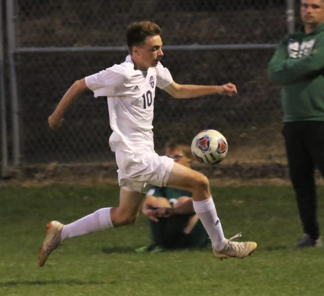 Lexington's Gavin George collected 11,140 votes after he earned a nomination for scoring five goals in a 10-2 win over Wooster to clinch the Ohio Cardinal Conference championship and putting him over 50 goals for his career.