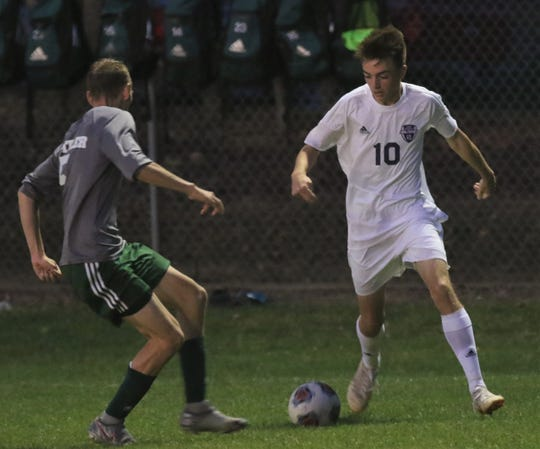 Lexington's Gavin George scored five goals in a 10-2 win over Wooster which netted the Minutemen the outfight OCC title and put him over 50 goals for his career.
