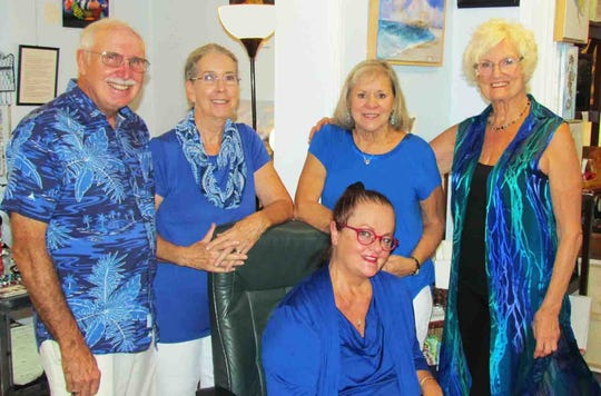 Blue and white was the theme for the September First Friday open house at the Local Color Art Gallery. The next one is Oct. 4.