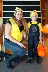 Families dress in costume at Betty Brinn Children's Museum's Not-so-Scary Halloween event.