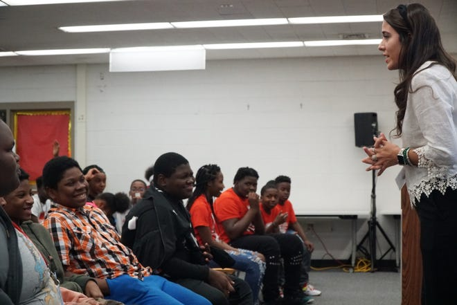 The local host committee for the 2020 Democratic National Convention launched a service project with Milwaukee Public Schools on Tuesday at Andrew S. Douglas Middle School.
