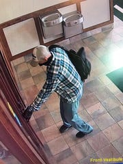 Brookfield police are looking for a man accused of robbing Waukesha State Bank, 18300 W. Capitol Drive, Sept. 25.